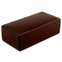 5 1/2 inch x 2 3/4 inch x 1 3/4 inch 1-Piece 1/2 lb. Brown Candy Box - 250 / Case