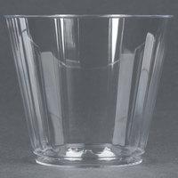 WNA Comet CC9240 Classicware 9 oz. Squat Clear Plastic Fluted Tumbler - 240 / Case