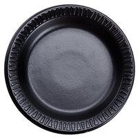 Dart Solo 6PBQR Quiet Classic 6 inch Black Laminated Round Foam Plate - 125 / Pack