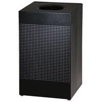 Rubbermaid SC18E Silhouettes Black Steel Designer Waste Receptacle - 40 Gallon (FGSC18EPLTBK)