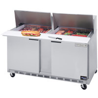 Beverage-Air SPE60-12M 60 inch Two Door Mega Top Refrigerated Salad / Sandwich Prep Table