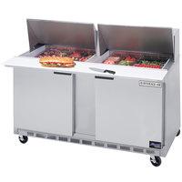 Beverage-Air SPE60-12M 60 inch Two Door Mega Top Refrigerated Salad / Sandwich Prep Table