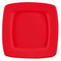 CAC R-S6QR Clinton Color Square in Square Plate 6 7/8 inch - Red 36/Case