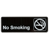 9 inch x 3 inch Black and White No Smoking Sign