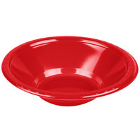 Creative Converting 28103151 12 oz. Classic Red Plastic Bowl - 240 / Case