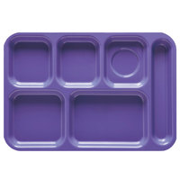 GET TR-152 10 inch x 14 1/2 inch Peacock Blue ABS Plastic Right Hand 6 Compartment Tray - 12/Pack