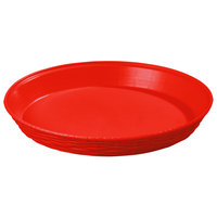 Carlisle 652605 WeaveWear Red Round Plastic Serving Basket 12 inch - 1.8 Qt. - 12/Case