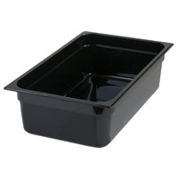 Carlisle 10202B03 StorPlus Full Size Black Food Pan - 6 inch Deep