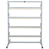 Bulman T369R-36 36 inch Four Deck Tower Paper Rack with Straight Edge Blade