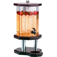 Cal-Mil 972-3-52 Westport 3 Gallon Beverage Dispenser with Dark Wood Base and Ice Chamber