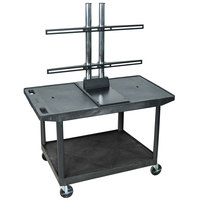 Luxor / H. Wilson LE27WTUD Flat Panel TV Cart with 2 Shelves for Up to 50 inch Screens
