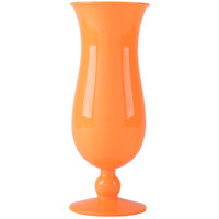 GET HUR-1-OR 15 oz. Orange Polycarbonate Hurricane Glass - 24/Case