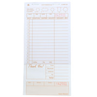 Royal Paper GC4997-2B 2 Part Tan and White Carbonless Guest Check with Bottom Guest Receipt - 40 Books / Case