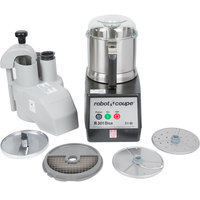 Robot Coupe R301 Dice Ultra Combination Continuous Feed Food Processor / Dicer with 3.5 Qt. Stainless Steel Bowl - 2 hp