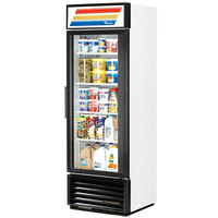 True GDM-19T-LD White Refrigerated Glass Door Merchandiser with LED Lighting - 19 Cu. Ft.