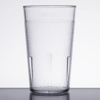 5 oz. Clear Pebbled Plastic Tumbler - 12/Pack