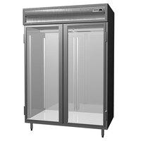 Delfield SSDRL2-G 49.92 Cu. Ft. Glass Door Dual Temperature Reach In Refrigerator / Freezer - Specification Line