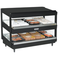 Nemco 6480-36S-B Black 36 inch Slanted Double Shelf Merchandiser - 120V