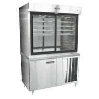 Delfield F15SC48D 48 inch Refrigerated Display Case with Storage Base and See-Through Back - 27.7 Cu. Ft.