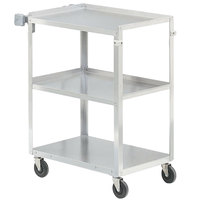 Vollrath 97126 Stainless Steel 3 Shelf Utility Cart - 30 7/8 inch x 17 3/4 inch x 33 3/4 inch