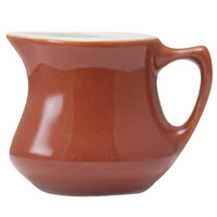 Hall China 30196W334 Paprika 5.5 oz. Empire Creamer 24 / Case