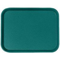 Cambro 1216FF414 12 inch x 16 inch Teal Customizable Fast Food Tray - 24/Case