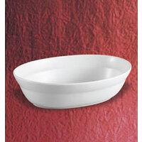 CAC RCN-VB12 White Oval Serving Bowl 2.75 qt. - 12/Case