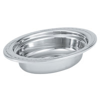 Vollrath 8230210 Miramar 2 Qt. Decorative Stainless Steel Oval Food Pan - 2 1/2 inch Deep