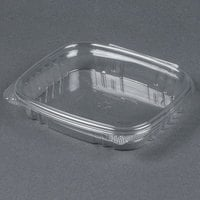 Genpak AD16S 7 1/4  x 6 3/8 inch x 1 inch 16 oz. Clear Shallow Hinged Deli Container - 100/Pack
