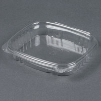 Genpak AD16S 7 1/4  x 6 3/8 inch x 1 inch 16 oz. Clear Shallow Hinged Deli Container - 100 / Pack