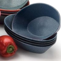 HS Inc. HS1011L 10 inch x 6 inch x 2 1/2 inch Blueberry Polyethylene Large Oval Basket - 24 / Case