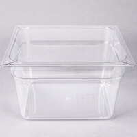 Carlisle 10223B07 StorPlus 1/2 Size Clear Food Pan - 8 inch Deep