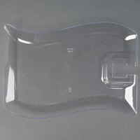 Fineline Wavetrends 1409-CL 6 inch x 9 1/2 inch Clear Plastic Cocktail Plate with Stemware Hole - 120 / Case
