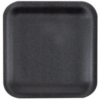 Genpak 1001S (#1S) Foam Meat Tray Black 5 1/4 inch x 5 1/4 inch x 1/2 inch - 1000/Case