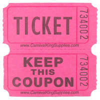 Carnival King Magenta 2-Part Raffle Tickets - 2000/Roll