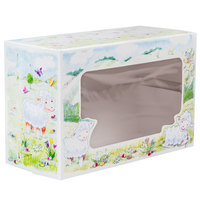 8 inch x 5 3/8 inch x 12 13/32 inch Window Cake / Bakery Box with Lamb Design - 100 / Bundle