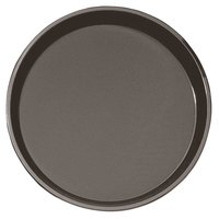 Cambro PT1600167 Brown 16 inch Round Polytread Serving Tray
