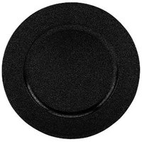 Tabletop Classics TRB-6695 13 inch Speckled Black Round Acrylic Charger Plate