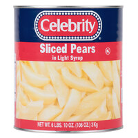 #10 Can Sliced Pears in Light Syrup - 6/Case
