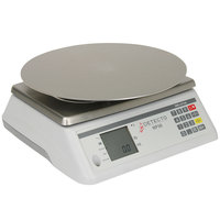 Cardinal Detecto RP30R 30 lb. Rotating Digital Ingredient Scale with Round Platform