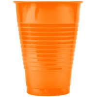 Creative Converting 28191071 12 oz. Sunkissed Orange Plastic Cup - 240/Case