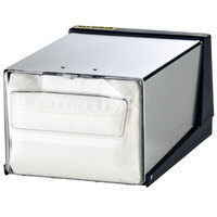 San Jamar H3001CLXC Fullfold Countertop Napkin Dispenser - Clear Face with Chrome Body
