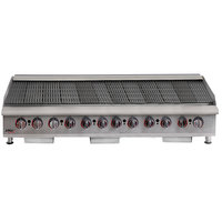 APW Wyott HCRB-2472i Natural Gas 72 inch HD Cookline Lava Rock Charbroiler - 240,000 BTU