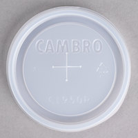 Cambro CL950P Disposable Translucent Lid with Straw Slot for 9.8 oz. Camwear and Colorware Tumblers and 10 oz. Camwear Huntington Tumblers - 1000/Case