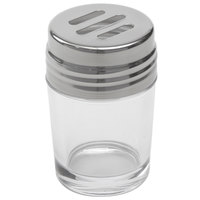 American Metalcraft GLAST2 2 oz. Clear Glass Contemporary Spice Shaker with Stainless Steel Top and Slotted Holes