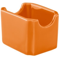 Hall China 30716325 Tangerine Colorations Sugar Packet Holder - 24 / Case