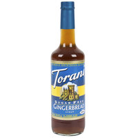 Torani 750 mL Sugar Free Gingerbread Flavoring Syrup