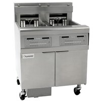 Frymaster FPEL114-2C 30 lb. Split Pot Electric Floor Fryer - 480V, 3 Phase, 14 kW