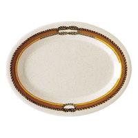 GET OP-120-RD 12 inch x 9 inch Diamond Rodeo Oval Platter - 12/Case