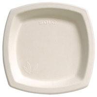 Dart Solo 10PSC-2050 Bare 10 inch Square Sugar Cane Plate - Compostable 500 / Case